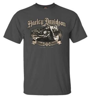 Harley-Davidson Men's Prodigy Bike Short Sleeve Crew-Neck T-Shirt - Charcoal - Wisconsin Harley-Davidson