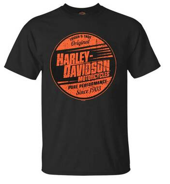 Harley-Davidson Men's Pure Performance Chest Pocket Short Sleeve T-Shirt - Black - Wisconsin Harley-Davidson