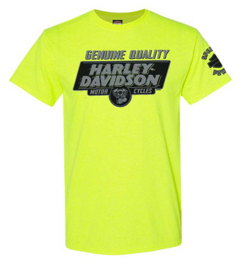 Harley-Davidson Men's Let's Ride Short Sleeve Crew-Neck T-Shirt - Safety Green - Wisconsin Harley-Davidson