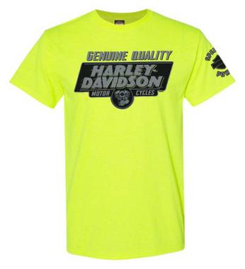 Harley-Davidson Men's Let's Ride Short Sleeve Crew-Neck T-Shirt - Safety Green - Wisconsin Harley-Davidson