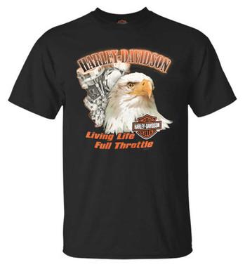 Harley-Davidson Men's Living Life All-Cotton Short Sleeve Crew-Neck Tee, Black - Wisconsin Harley-Davidson