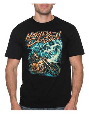 Harley-Davidson Men's Ride The Lightning Short Sleeve Crew-Neck T-Shirt, Black - Wisconsin Harley-Davidson