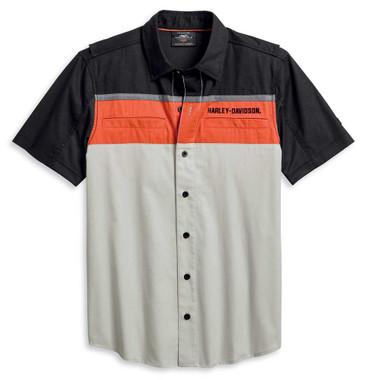 Harley-Davidson Men's Performance Colorblock Vented Long Sleeve Shirt 96017-20VM - Wisconsin Harley-Davidson