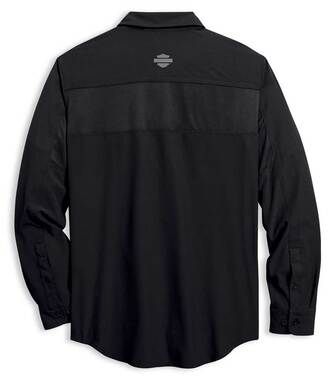 Harley-Davidson Men's Performance Fast Dry Vented Long Sleeve Shirt 96016-20VM - Wisconsin Harley-Davidson
