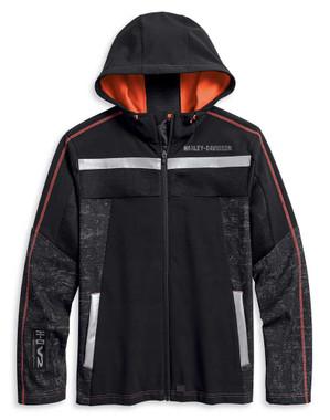 Harley-Davidson Mens Performance Mesh Accent Soft Shell Jacket, Black 97404-20VM - Wisconsin Harley-Davidson