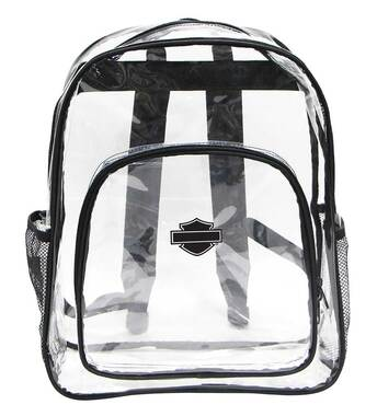 Harley-Davidson Clear Security Backpack - Total Transparency, 16 x 12 x 5 99856 - Wisconsin Harley-Davidson