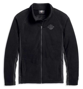 Harley-Davidson Men's Circle Logo B&S Fleece Activewear Jacket, Black 96159-20VM - Wisconsin Harley-Davidson