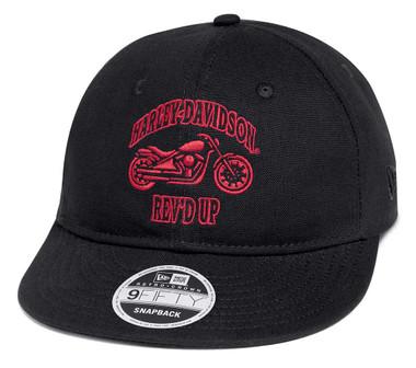 Harley-Davidson Men's Packable Adjustable Baseball Cap, Black 97606-20VM - Wisconsin Harley-Davidson