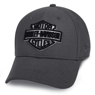 Harley-Davidson Men's Lightweight Wicking Packable Baseball Cap, Gray 97603-20VM - Wisconsin Harley-Davidson
