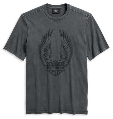 Harley-Davidson Men's Winged Logo Short Sleeve T-Shirt, Asphalt 96140-20VM - Wisconsin Harley-Davidson