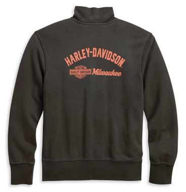 Harley-Davidson Men's 1/4-Zip Slim Fit Mock Neck Pullover Sweatshirt 96137-20VM - Wisconsin Harley-Davidson