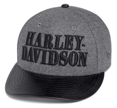Harley-Davidson Men's Wool-Blend Adjustable Baseball Cap. Black/Gray 97609-20VM - Wisconsin Harley-Davidson