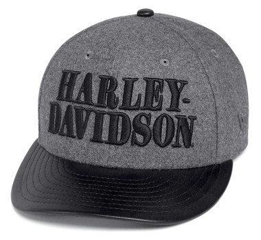 Harley-Davidson Men's Wool-Blend Adjustable Baseball Cap. Black/Gray 97609-20VM - Wisconsin Harley-Davidson