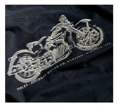 Harley-Davidson Men's Motorcycle Slim Fit Long Sleeve Shirt, Black 96110-20VM - Wisconsin Harley-Davidson