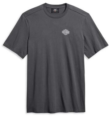 Harley-Davidson Men's Heritage Eagle Short Sleeve T-Shirt, Gray 96037-20VM - Wisconsin Harley-Davidson