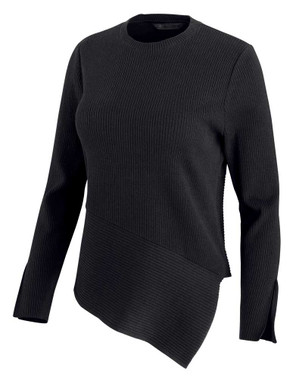Harley-Davidson Women's Asymmetrical Hem Knit Sweater - Black 96067-20VW - Wisconsin Harley-Davidson