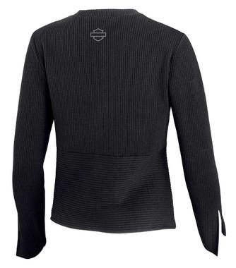 Harley-Davidson Women's Asymmetrical Hem Knit Sweater - Black 96067-20VW - Wisconsin Harley-Davidson
