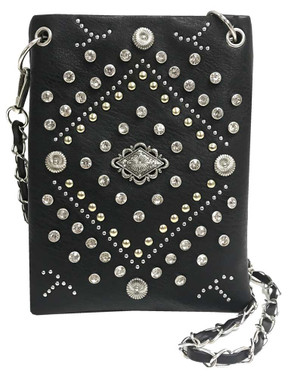 That's A Wrap Women's Multi Studded & Bling Hip Bag w/ Strap HB2930-BLK - Wisconsin Harley-Davidson