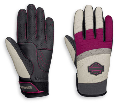 Harley-Davidson Women's Killian Mixed Media Full-Finger Gloves 97105-20VW - Wisconsin Harley-Davidson