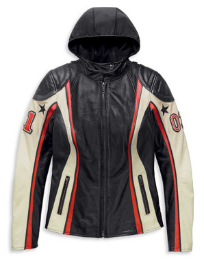 Harley-Davidson Women's Flection 3-IN-1 Colorblocked Leather Jacket 97012-20VW - Wisconsin Harley-Davidson