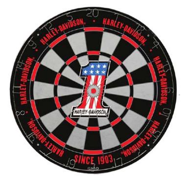 Harley-Davidson #1 Logo Tournament Dartboard - Black & Red, 18 in. 61982 - Wisconsin Harley-Davidson