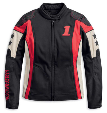 Harley-Davidson Women's Flection Windproof Colorblocked Riding Jacket 97115-20VW - Wisconsin Harley-Davidson