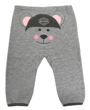 Harley-Davidson Baby Girls' 2-Piece Knit Top w/ 3D Bear Fleece Pants 2004929 - Wisconsin Harley-Davidson