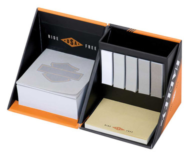 Harley-Davidson Ride Free Note Cube - 3.5 x 3.5 inches, Orange/Black HDL-20118 - Wisconsin Harley-Davidson