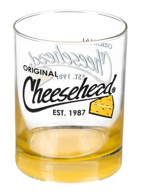 Original Cheesehead Gradient Finish Old Fashion Glass - 12 oz. 3DOF5070 - Wisconsin Harley-Davidson