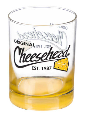 Original Cheesehead Gradient Finish Old Fashion Glass - 12 oz. 3DOF5070 - Wisconsin Harley-Davidson