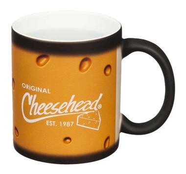 Original Cheesehead Classic Reveal Ceramic Mug - Matte Black, 11 oz. 3CR5070 - Wisconsin Harley-Davidson