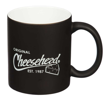 Original Cheesehead Classic Reveal Ceramic Mug - Matte Black, 11 oz. 3CR5070 - Wisconsin Harley-Davidson