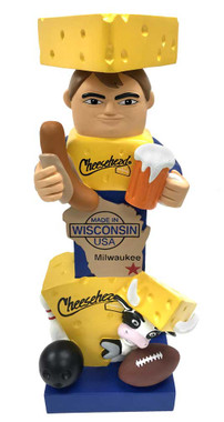 Original Cheesehead Sculpted Wisconsin Themed Garden Statue, 16 in. 845070TT - Wisconsin Harley-Davidson