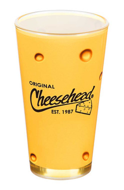Original Cheesehead Printed Graphic Wrap Pint Glass - Gold, 16 oz. 3PT5070 - Wisconsin Harley-Davidson
