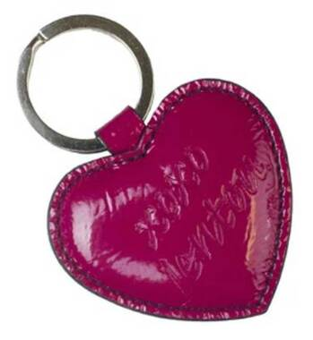 JENTOU Women's XOXO Heart Leather Keychain - Pink, 2.5 x 2.5 in. JEN80634-PINK - Wisconsin Harley-Davidson