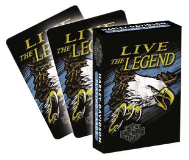 Harley-Davidson Live the Legend Eagle Standard Size Playing Card Deck 630 - Wisconsin Harley-Davidson
