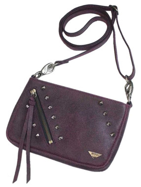 JENTOU Women's Kat Stonewash Leather Crossbody Purse - Pink JEN88008-PINK - Wisconsin Harley-Davidson