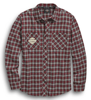 Harley-Davidson Men's Since 1903 Plaid Long Sleeve Woven Shirt 96449-20VM - Wisconsin Harley-Davidson