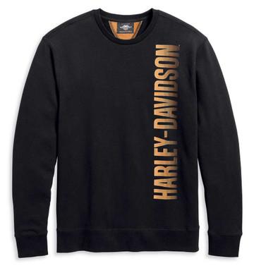 Harley-Davidson Men's Offset Logo Pullover Sweatshirt, Black 96160-20VM - Wisconsin Harley-Davidson