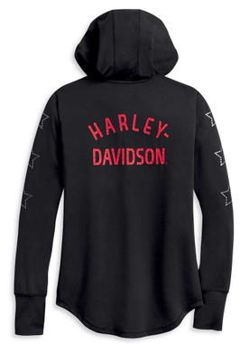 Harley-Davidson Women's Performance H-D One Pullover Hoodie, Black 96190-20VW - Wisconsin Harley-Davidson