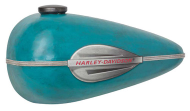 Harley-Davidson Distressed Scale Model Gas Tank Metal Art, Blue HDL-15521 - Wisconsin Harley-Davidson