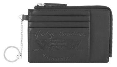 Harley-Davidson Women's Free Spirit Credit Card Wallet w/RFID - Black HDWWA11678 - Wisconsin Harley-Davidson