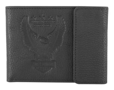 Harley-Davidson Men's Liberty Eagle Bi-Fold Leather Wallet w/ RFID HDMWA11672 - Wisconsin Harley-Davidson