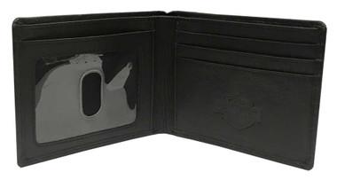 Harley-Davidson Men/'s Outsider Skull Bi-Fold Leather Wallet w// RFID HDMWA11664
