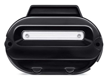 Harley-Davidson Dominion Transmission Side Cover, Gloss Black Finish 25800130 - Wisconsin Harley-Davidson