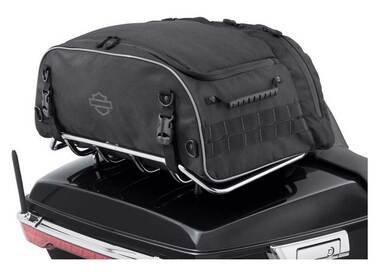 Harley-Davidson Onyx Premium Luggage Collapsible Tour-Pak Rack Bag 93300124 - Wisconsin Harley-Davidson