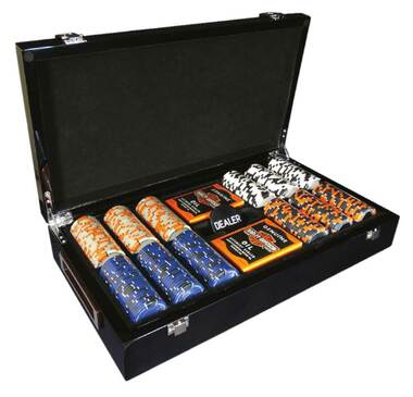 Harley-Davidson Trade Mark Bar & Shield Professional Game Poker Chip Set 69300 - Wisconsin Harley-Davidson