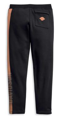 Harley-Davidson Men's Dual Orange Stripe Activewear Pant - Black 96151-20VM - Wisconsin Harley-Davidson
