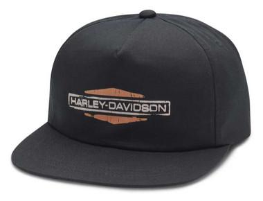 Harley-Davidson Men's Patina Sixties Shield Logo Baseball Cap, Black 97621-20VM - Wisconsin Harley-Davidson