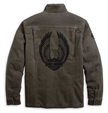Harley-Davidson Men's Winged Logo Casual Jacket - Faded Green 97414-20VM - Wisconsin Harley-Davidson